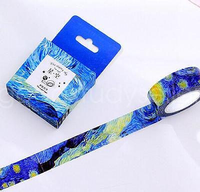 Blue Starry Sky Theme Masking Washi Tape diary Sticky DIY Adhesive Sticker