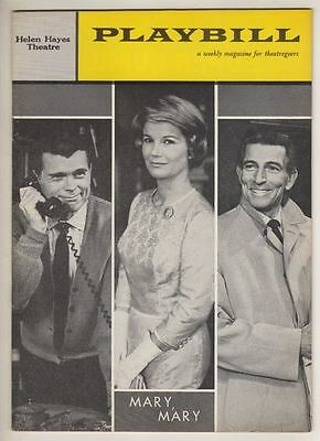 """Mary, Mary""   Playbill  1961  Barbara Bel Geddes, Barry Nelson   Broadway"
