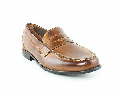 Rockport Classic Loafer Penny Cognac Shoes Mens M New $100