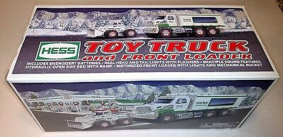 2008 Hess Toy Truck And Front Loader Tractor NIB