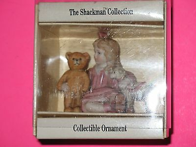 Shackman Schmidt Girl W/teddy & Lamb Ornament - 1989 - New In Box !
