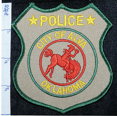 Oklahoma, Alva Police Dept Rodeo Horse Patch