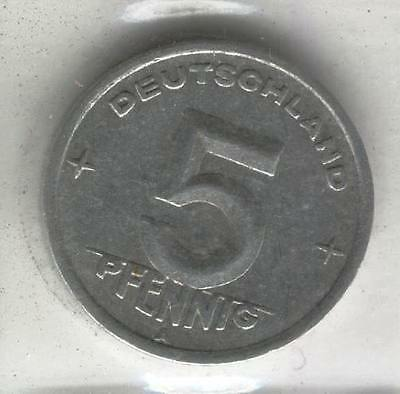 J Coins D84 Germany 1949 Value 5 Pfennig