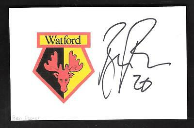 ***watford***---***ben Foster***----Signed Card***
