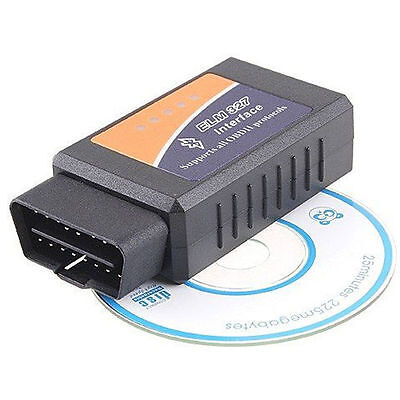 Interface Diagnostic Scanner Car Bluetooth WiFi ELM327 OBD2 II For iPhone PC