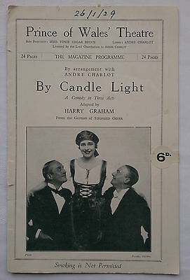 By Candle Light.harry Graham.prince Wales Theatre Programme 29.l Faber.r Squire