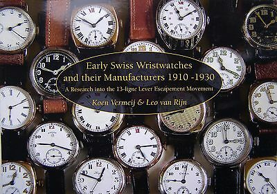 Early Swiss Wristwatches and their Manufacturers 1910 - 1930  -  Book paperback