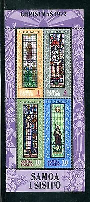SAMOA 382a, 1972 STAINED GLASS WINDOWS, S/S OF 4, MNH (ID1051)