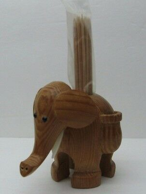 Handcarved Wooden Elephant Tooth Pick Holder