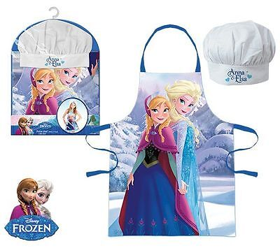 Girls Kids Disney Frozen Anna & Elsa Chef Cook Gift Set Includes Apron And Hat