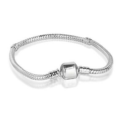 European Charms Bracelet Bangle Chain Fit Brand Sterling 925 Silver Charm Beads