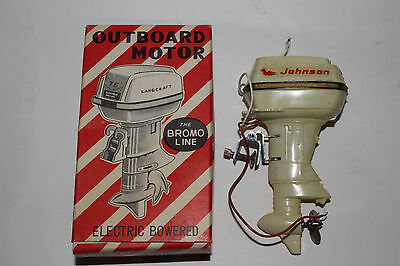 1950's Bromo, Johnson 75 HP Battery Operated Boat Motor with Box