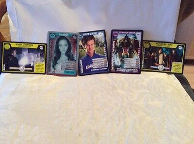 Five Doctor Who Monster Invasion Extreme Cards