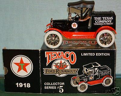 1918 Texaco Ford Runabout Collector Series #5 Ertl Mint