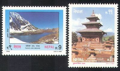 Nepal 1994 Temple/Buildings/Architecture/Mountain/Tourism/Nature 2v set (n38996)