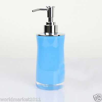 New Acrylic Light Blue Manual Control Soap Dispenser Hand Sanitizer Machine