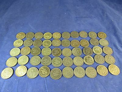50 Count Vintage FREEDOM SHIELD Game Arcade NO CASH VALUE Tokens Token Lot