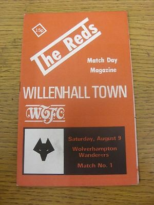 WILLENHALL TOWN v WOLVERHAMPTON WANDERERS WOLVES Friendly 1980/81 * POST FREE*