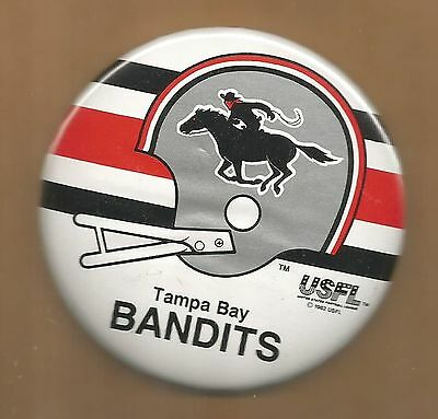 Tampa Bay Bandits ~ USFL Licensed Button ~Warehouse Find~Excellent Condition