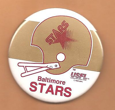 Baltimore Stars USFL Licensed Button~Warehouse Find~Great Condition