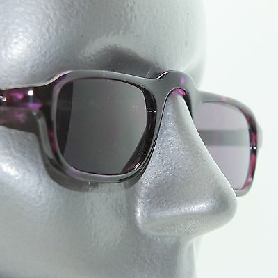 Reading Glasses Low Rise Half Eye +2.00 Sunglasses Tinted Lens Purple Frame