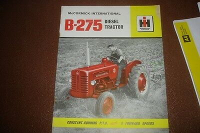 CLASSIC VINTAGE McCORMICK INTERNATIONAL B-275 AGRICULTURAL TRACTOR LEAFLET
