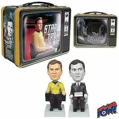 2013 Twilight Zone/ Star Trek Lunchbox Bobble Head Gift Set Sdcc Exclusive Kirk