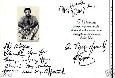 """Miguel Cancel 8""""x10"""" SIGNED Christmas Card"""