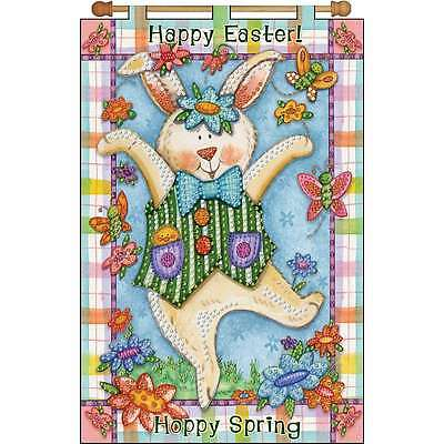 Happy Spring Jeweled Banner Kit-16 Inch X 24 Inch 021465096056