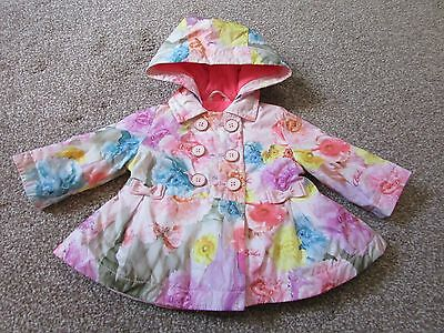 Gorgeous Girls age 0-3 months Ted Baker pink flowers jacket / coat - Excellent