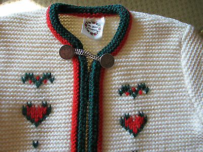 St. Peter Trachten Sweater knit cardigan zip Christmas Holiday Toddler Child ac