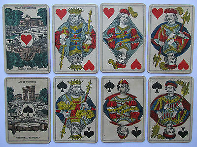 Seltene antike Spielkarten.Belgien.Paris Asse.Rare antique playing cards.Belgium