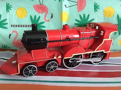 Red Metal Locomotive Train With Sound And Lights