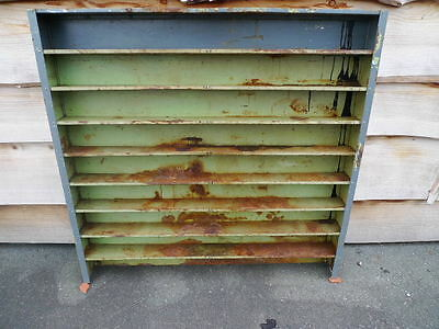 Vintage industrial metal display cabinet