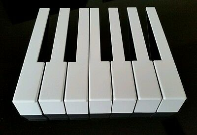 German Piano Keytops One Octave w Fronts for Piano Keytop Replacement White Keys