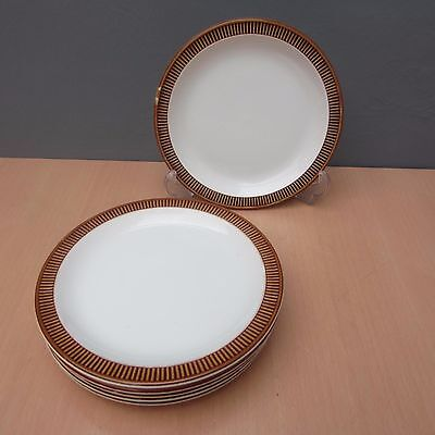 6 Retro Vintage Poole Pottery Chestnut 7 Inch Side Plates