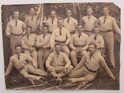 1897 Large Photo.fencing,bowling Sport Team Champions?,names On Back,st. Louis ?