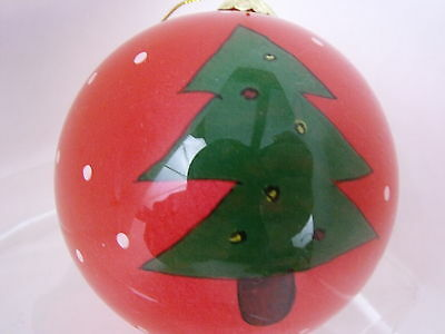 Glass Christmas Tree Ornament Inside Painted Holiday Tree Decor