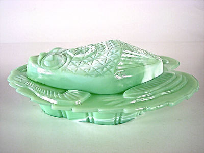 NMGCS 2003 Special Issue Green Slag Milk Glass Frog Covered Dish