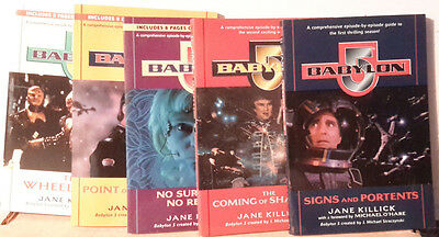 1998-99 Babylon 5 Episode Guide Book set of 5- First 5 Seasons- UNREAD (M5441)