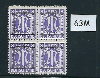 Mint stamp block #63M / PF03 / 1945 - 1946 / Allied Military Government / A.M.G.