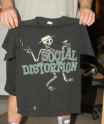 Social Distortion Dancing Skeleton T Shirt Punk Rock A Billy Small Old
