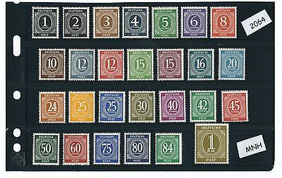 Germany stamp Mint set / Complete 1946 Issues / Postwar Germany / All stamps MNH
