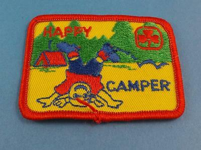 Girl Guides Canada Happy Camper Vintage Patch Collector Badge