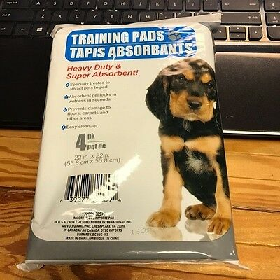 Pet Dog Pee Pads 22x22 Inches Training Pads For Puppy Housebreaking 4 Count Pack