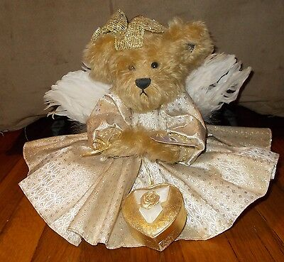 Vintage Annette Funicello Goldie 50th Golden Angel BEAR MOHAIR Knickerbocker tag