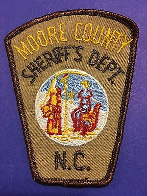 Moore County North Carolina  Sheriff Shoulder  Patch  Used