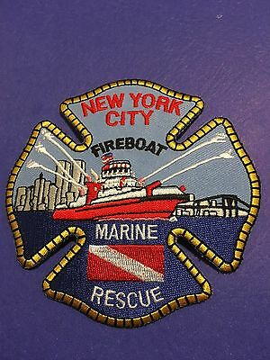New York City Fireboat Marine Rescue   Shoulder  Patch