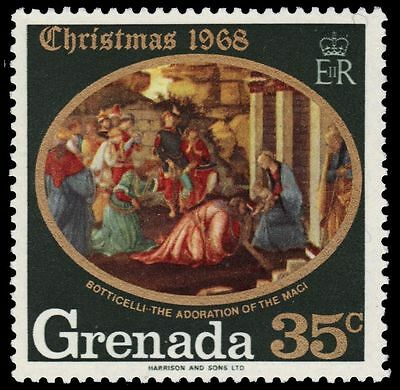 "GRENADA 292 (SG328) - Christmas ""Adoration of the Magi"" by Botticelli (pf7448)"