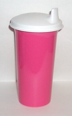 New TUPPERWARE Big Bell Tumbler Fuchsia Pink Sipper Seal Sippy Kids Cup 10 oz
